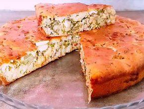 заливной пирог с рыбной консервой