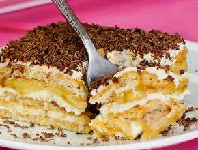 вкусный торт из печенья без выпечки